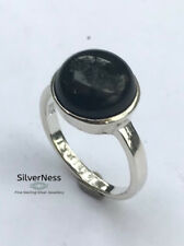 SilverNess Women's Jewellery Onyx Ring : 925 Sterling Silver