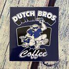 DUTCH BROS Coffee Sticker Blue HANG LOOSE Dude Dutch Brothers HTF RARE
