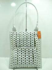 NWT LATICO Shoulder Bag White Leather W/Front Zip Pocket Organizer Top Zip Entry