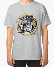 Royal ENFIELD BULLET MOTO VINTAGE CON MOTORE T-shirt inished Productions