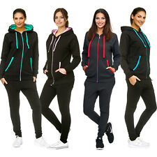 Damen Uni Jogging-Anzug | Baumwolle | Sportjacke mit Reißverschluss 704
