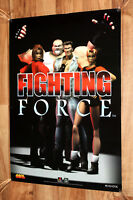 Fighting Force Promo Old Vintage Poster Playstation 1 PS1 Very Rare 59x42cm 1997