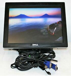 """15"""" Dell E157FPT  LCD Anti-glare Monitor Integrated Speakers 1024 x 768 w/ Stand"""