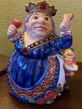 New ListingFitz and Floyd Queen of Hearts and Knave Cookie Jar - Alice In Wonderland 1992