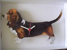 BASSET Hound Dog Orologio da Parete. NEW & BOXED