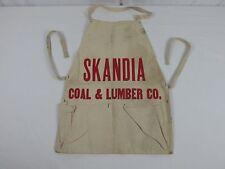 Old 1930s SKANDIA COAL & LUMBER Co. Apron Rockford Illinois Advertisers Mfg. Co.