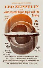 Heavy Metal Rock: Led Zeppelin at Pasadena California Concert Poster 1969 12x18