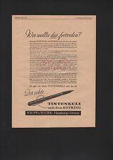 HAMBURG-ALTONA, Werbung 1941, Riepe-Werk Tintenkuli Rotring