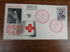 1 x FDC ENVELOPPE PREMIER JOUR FRANCE 24-06-1959 DUNANT CROIX ROUGE solferino