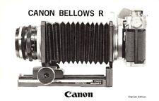 "1960s CANON BELLOWS ""R"" MODEL INSTRUCTION MANUAL -CANON FX & CANONFLEX"