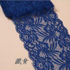 15cmWidth Flower Elastic Stretch Lace Trim Ribbon Sewing Dress Skirt Handicrafts
