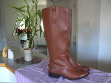 SAMS & LIBBY Womens Cognac Perry Ridding Boots Size 6.5