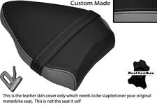 BLACK& GREY CUSTOM FITS DUCATI STREETFIGHTER 848 REAR PILLION LEATHER SEAT COVER
