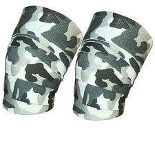 Weight Lifting Knee Wraps Power Lifter Wrap Gym Training Fist Straps Camouflage