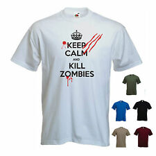 'Keep calm and Kill Zombies'. - ps3 / xbox Funny  T-shirt. S-XXL
