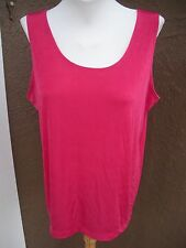 New $59 Chico's Travelers Raspberry Rose Pink Tank Top Sz 3 = XL 16/18 NWT