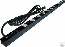 """48"""" 12 Outlet Metal Power Strip, Surge Protected 4129BL"""
