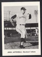 Vintage John Antonelli 1961 Team Issued 5x7 B/W Photo Card Cleveland Indians