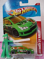 2012 i Hot Wheels CITROEN C4 RALLY #198☆Green ☆Case D/E☆Thrill Racers Stunt