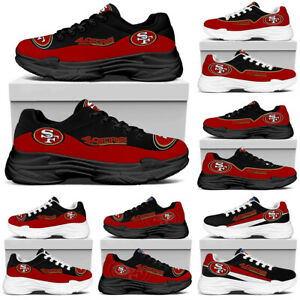 San Francisco 49ers Slip on Trainers Mesh Net Sports Shoes Breathable Sneakers