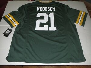 NIKE On Field Green Bay Packers Charles Woodson NFL Jersey 3XL *NEW*