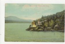 View Down Hudson River From Bend At West Point Lighthouse Postcard USA 401a ^