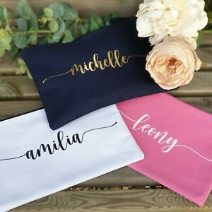 PERSONALISED MAKE UP BAG | Wash Bag Gift Women Birthday Mum Gift ANY NAME Custom