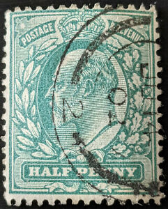 Stamp Great Britain SG215 1904 1/2d King Edward VII Used