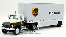 International 4900 Truck UPS FREIGHT w/26' Drop Floor Trailer 1/87 HO 11194-2551