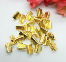 10mm 40PCS Ribbon Necklace Cord Tips Clip Clamps Ends Beads Many Colors Pick U
