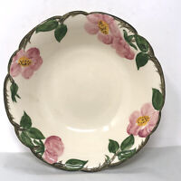 "Vintage Franciscan Desert Rose 8"" Round Serving Bowl 1940s Made in California"