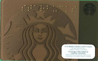 STARBUCKS GIFT CARD 2015 LIMITED SIREN LOGO MERMAID HOLIDAY 48 NEW RARE MATTE