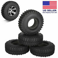 4Pcs RC Rally Car Grain Rubber tires & Wheels for 1:10 RC Crawler Car Traxxas