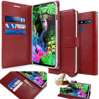 For LG G8 Case, Slim Smart Card Wallet Flip leather Rugged Armor Case Cover