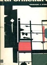 L'ARCHITETTURA. Cronache e storia. Direttore Bruno Zevi. 1963, N.89