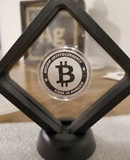 Bitcoin 1 oz .999 silver commemorative coin BTC decentralized consensus Framed