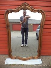 XL 49 x 30 inch 1950s Vintage Carolina Mirror Corp. USA - Carved Wooden Frame