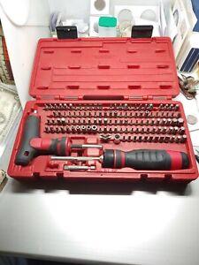 """MAC Tools SBDR123SA 123pc MAC-Grip Ratcheting 1/4"""" Hex Bit Screwdriver Set"""