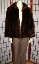 Mouton Coat S Chocolate Brown VTG 1950s Sanger Bros Shearling Fur Coat Vintage