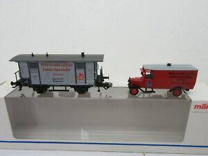"HO - Marklin Museum 1999 Box Car w/ Del. Truck ""Württemberg Landessparkasse""-NIB"