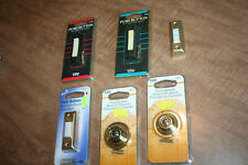 New listing Lot Of 6 Doorbell Push Button Switches 5) New In Package See Pix!