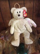 """TY """"Halo"""" Angel Bear Beanie Baby Rare Tush Tag Brown Nose (ERROR) Collector ltem"""