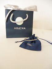 👿 Bracelet Agatha Jonc En Argent 925 Avec Strass