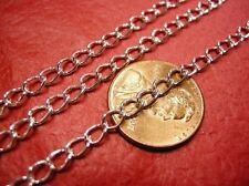 5 feet silver finish 5x3mm side twisted chain-1427A