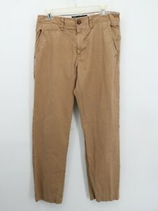 American Eagle Original Straight Khaki Beige/Tan Cotton Chino Pants Mens 31x32