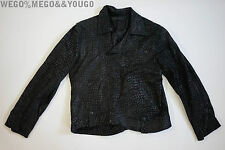 En Noir Leather Mosaic Motorcycle Moto Rare Biker Jacket size Small S
