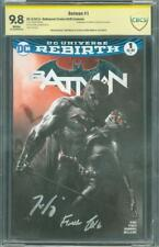 Batman 1 CBCS 2X SS 9.8 King Finch Dell'Otto Bulletproof sketch Variant up CGC