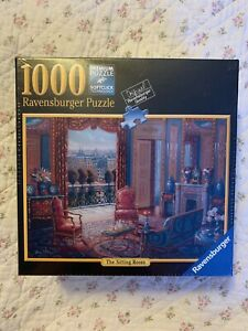 """NEW Ravensburger 1000 Piece Jigsaw Puzzle The Sitting Room 27"""" x 20"""" Sealed"""