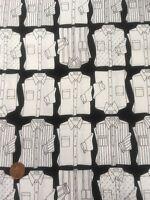 Shirt Print Black White Quilting Craft 100% Cotton Fabric Timeless Treasures