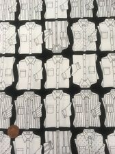 Shirt Print Black White Quilting Craft 100% Cotton Fabric Timeless Treasures